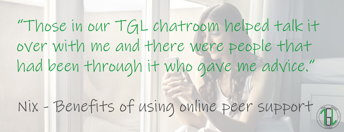 Online peer support featured image with quote